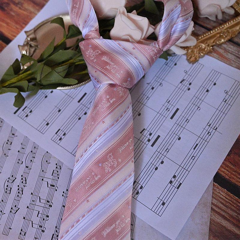 【藤原屋】原创jk领带、独角兽、DK领带现货包邮粉色领带
