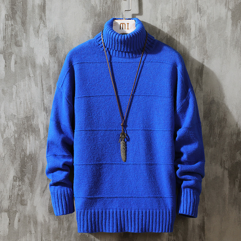 Erdos 100% pure cashmere sweater mens high collar 2020 winter new mens sweater thickening sweater trend