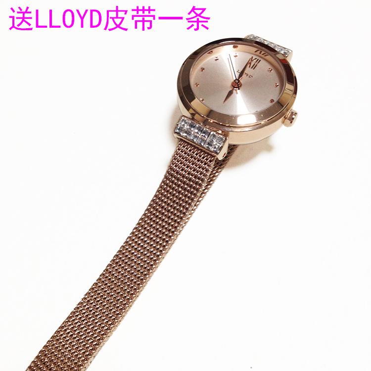 韩国原装正品洛雅蒂腕表LLOYD手表 女款网带表 迷你款钻石小女表