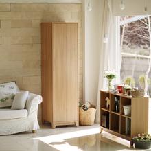 卧室单门衣柜简约现代2门 平开门板式组合衣橱小户型衣柜可定制