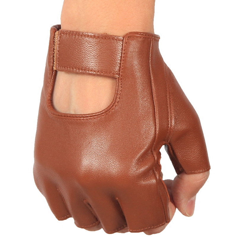 Fitness mens leather Half Finger Gloves thin cycling driving outdoor anti slip sports bicycle gloves lady