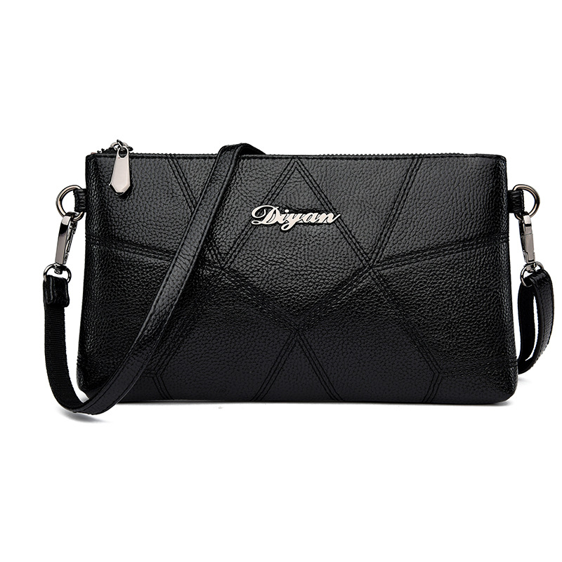 One shoulder bag 2020 Japan and South Korea soft leather diamond lattice womens bag zero wallet womens zipper long womens messenger mothers bag