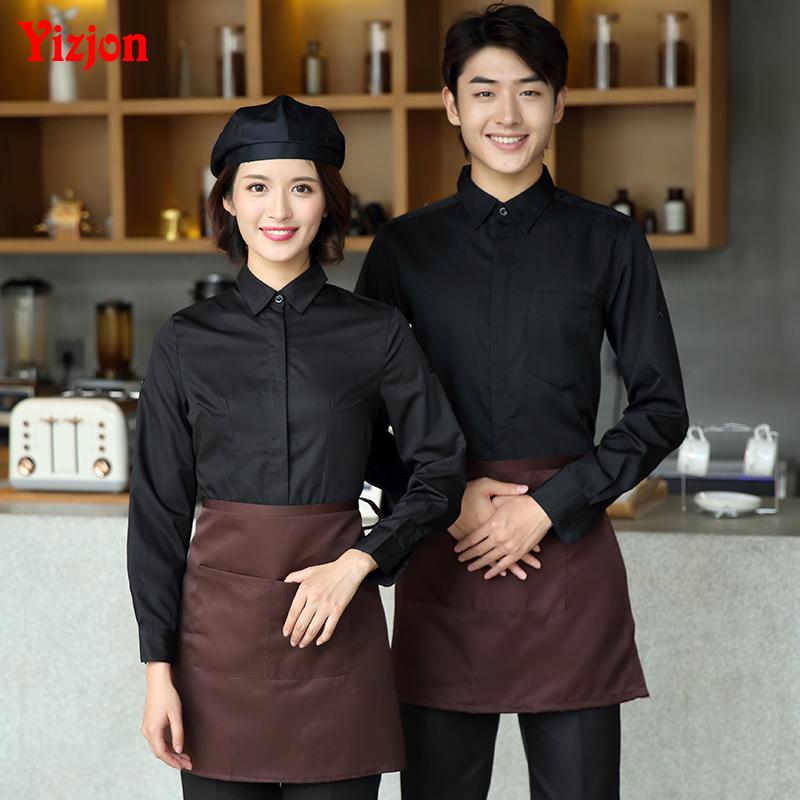 酒店工作服衬衣蛋糕店咖啡厅服务员短袖韩式烤肉火锅店餐饮制服女