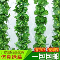 仿真绿叶植物藤条假树叶塑料假花条藤蔓室内遮挡水管吊顶装饰花藤