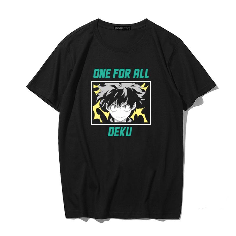 我的英雄学院t恤男联名日系动漫周边绿谷出久合作款衣服纯棉潮