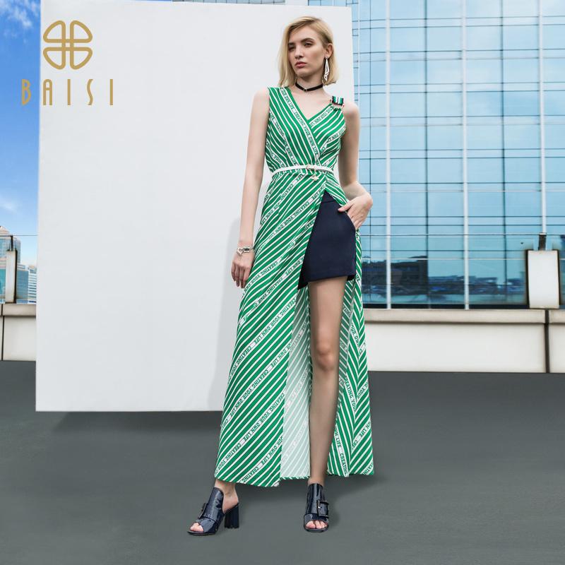 百丝女装上衣2019夏季新品休闲时尚潮流长款外穿背心上衣女