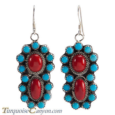 American buy turquoise jewelry Livingston national fashion coral earrings and Earrings