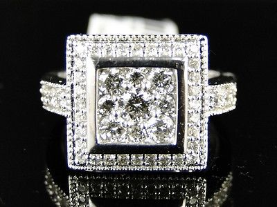 Jewelry diamond ring 14 K womens Platinum Wedding Engagement 1.0 CT