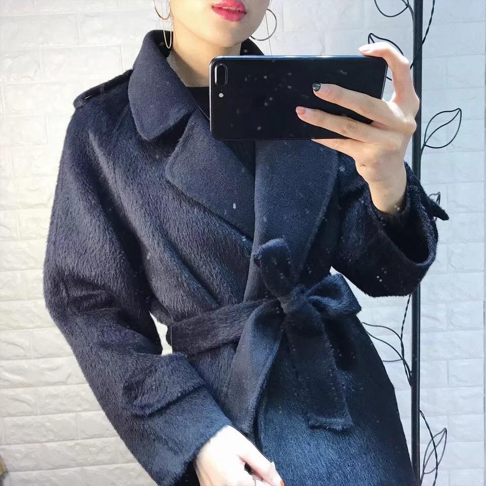 ^@^【可儿】阿尔巴卡羊绒长毛双面大衣  传承经典