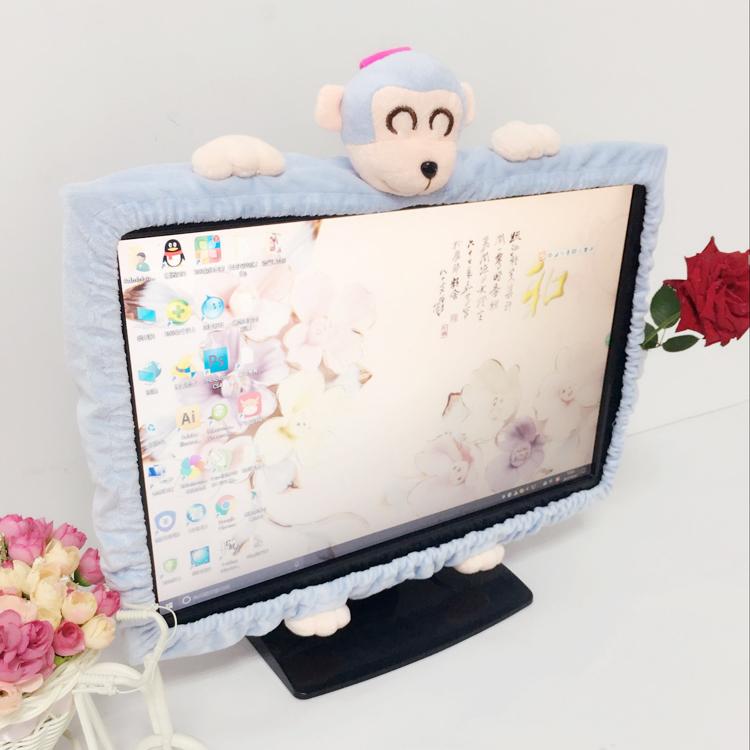 卡通图案笔记本电脑罩台式液晶屏幕罩龙猫防尘罩防尘防灰电脑罩