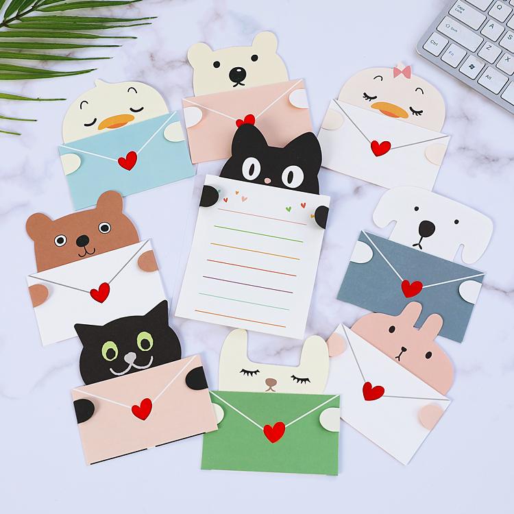 韩国创意卡通立体贺卡幼儿园儿童毕业生日邀请祝福卡留言小卡片纸