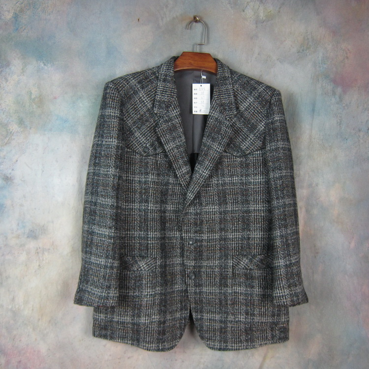 French brand L / Langjia tweed hunting suit for mens Retro Plaid thick suit large Mantianxing e705