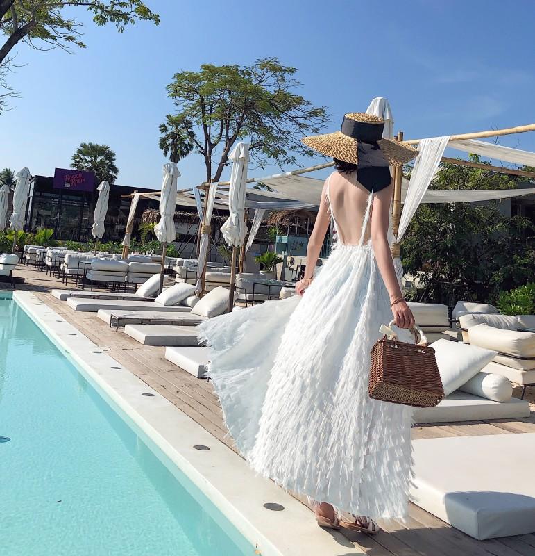 券后109.90元巴厘岛海南三亚沙滩裙女显瘦泰国海边度假裙超仙长裙普吉岛连衣裙