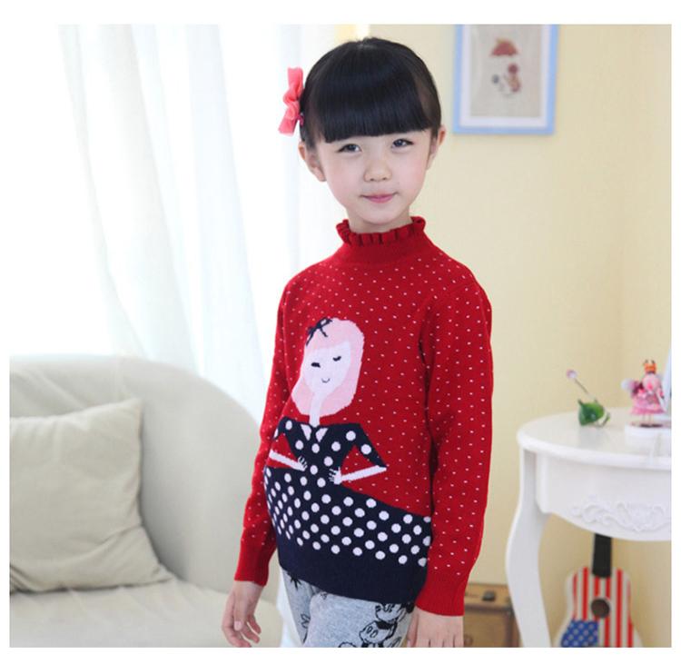 儿童高领毛衣女童羊绒中大童套头羊毛小人秋冬厚打底衫量体定做
