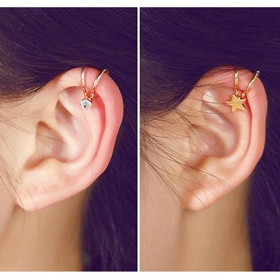 Корея женщины могут любовь серьги клипса кольцо клипса ухо не прокалывать уши ложный ухо украшения ухо кость клип компактный простой аксессуары небольшой аксессуары