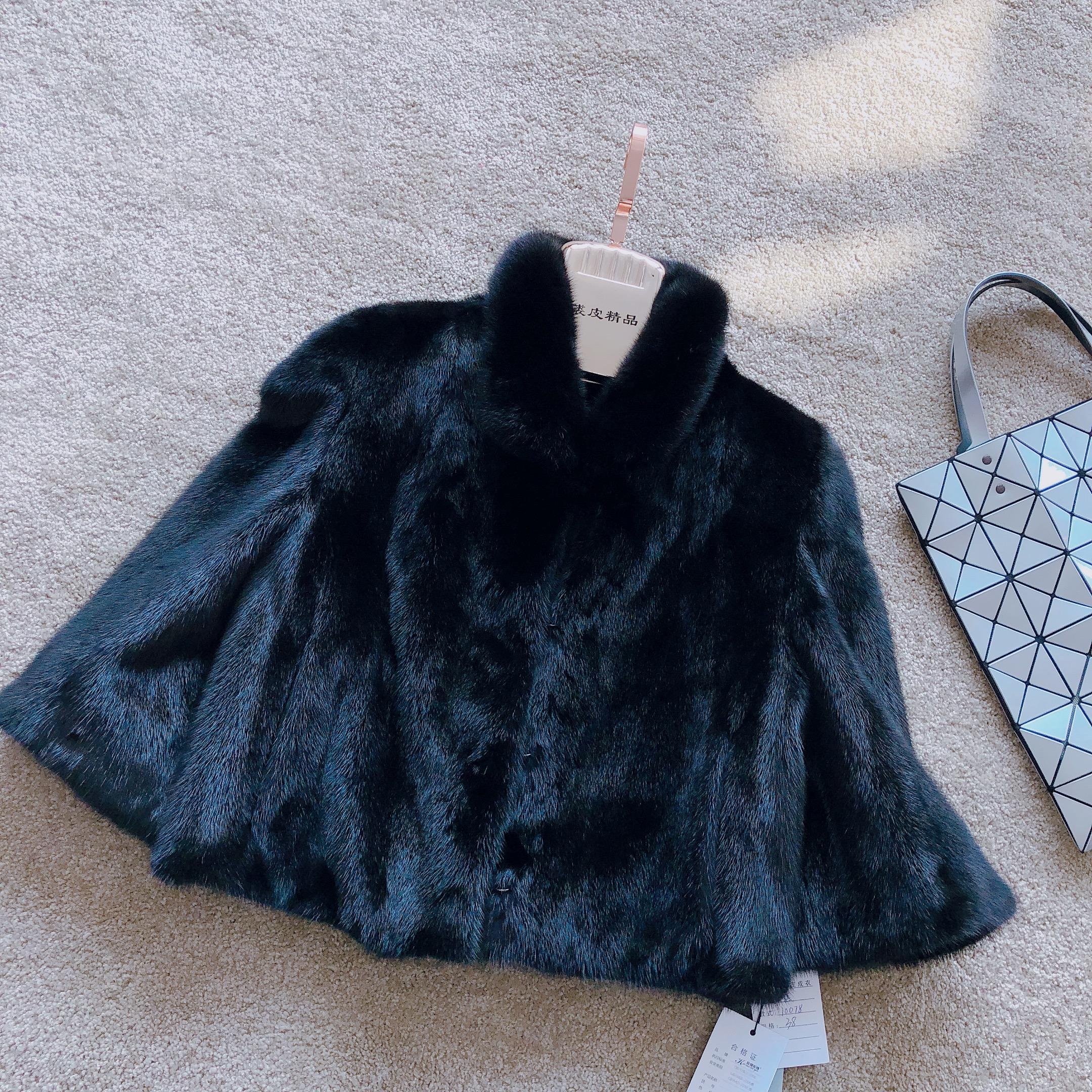 Imported velvet mink fur short womens 2018 Korean full mink coat Haining fur jacket