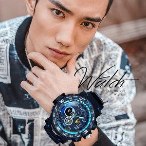 圣斯登青少年手表男高中学生韩版简约防水潮流初中休闲运动电子表