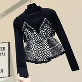 套头毛衣春装2020款女针织上衣短款假两件加厚宽松外穿ins女森系
