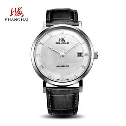 上海手表男自动机械表腕表时尚潮流舒适皮带日历男表537-5-Z2正品