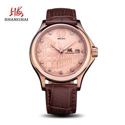 上海手表男经典复古全自动机械表皮带日历男表纪念款正品联保558