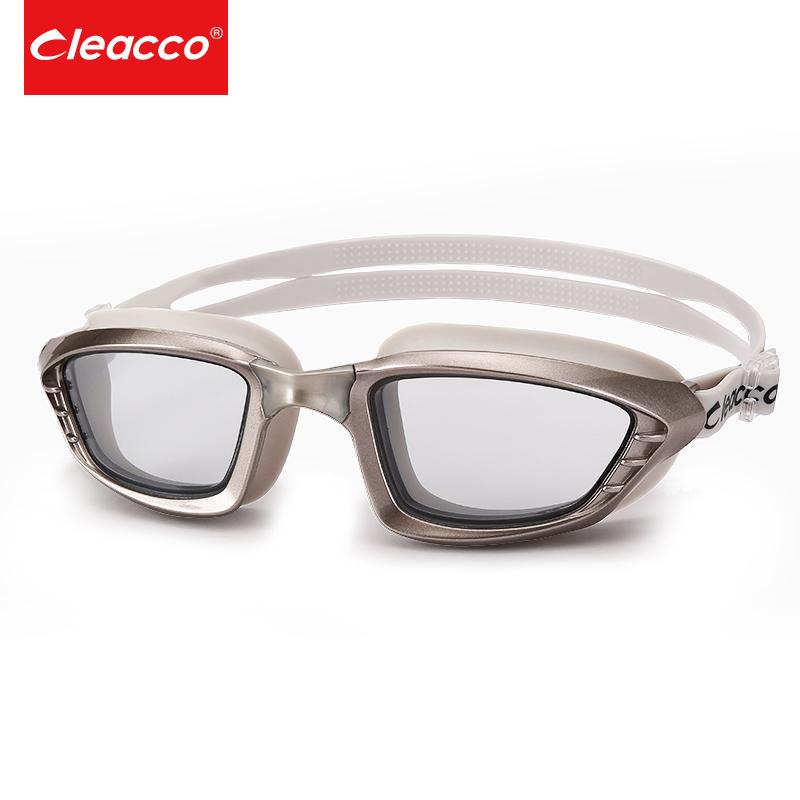 力酷游泳镜男女士通用高清防雾防水游泳眼镜平光大框舒适硅胶泳镜