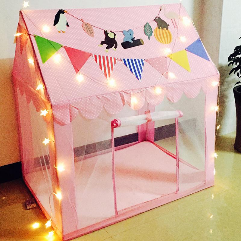 儿童帐篷玩具屋室内公主男女孩小房子宝宝游戏屋防蚊透气夏天家用