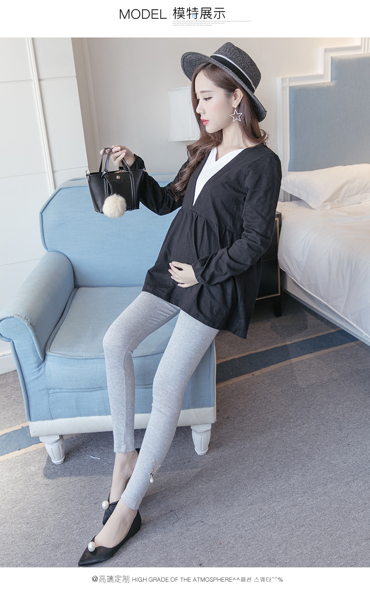 孕妇装秋装孕妇裤孕妇打底裤托腹舒适外穿加绒加厚打底裤2018新款