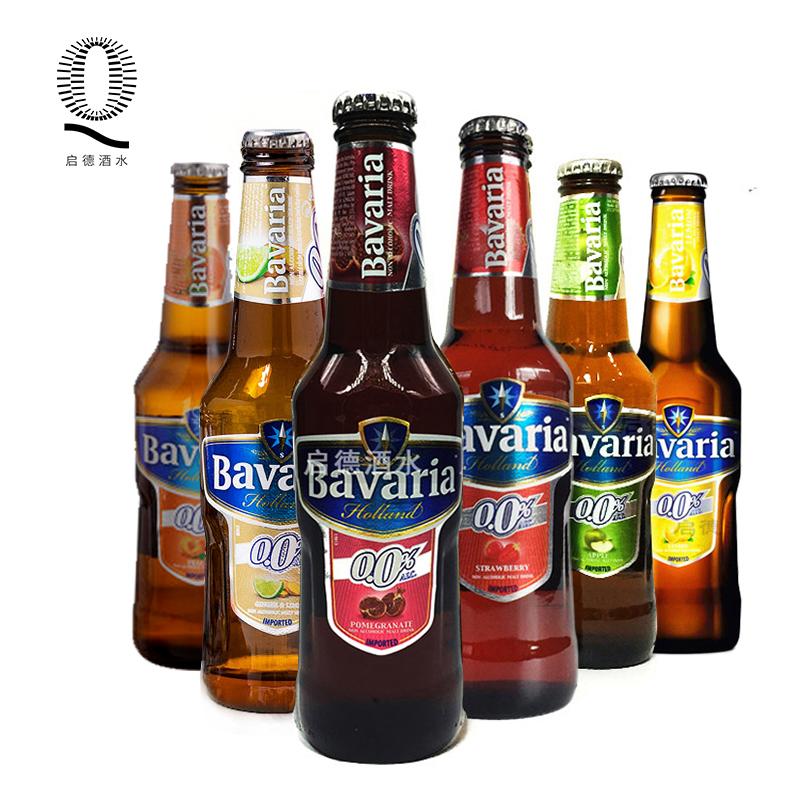 荷兰进口宝华利草莓石榴等6种水果味无醇无酒精度精酿啤酒整箱