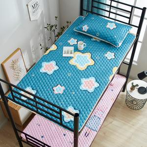 夏季冰丝凉席子学生 宿舍可水洗折叠单人0.9m卡通空调0.8米床防滑