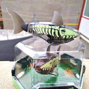 自动游泳HEXBUG机械鱼玩具 赫宝夜光水族馆电动电子宠物鲨鱼单只装