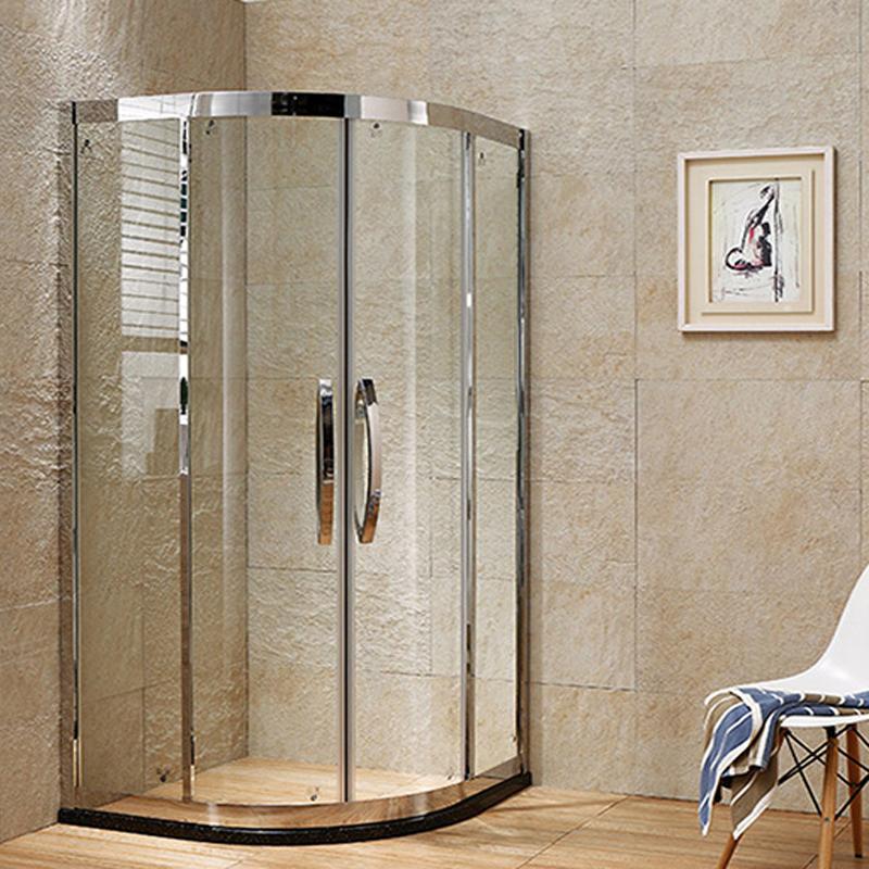 定制淋浴房隔断整体浴室弧扇形不锈钢玻璃简易沐浴室浴屏洗澡浴房