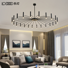 Nordic, post-modern, minimalist creative personality, living room, dining room, lamps and lanterns, air network, red designer, art INS, chandelier.