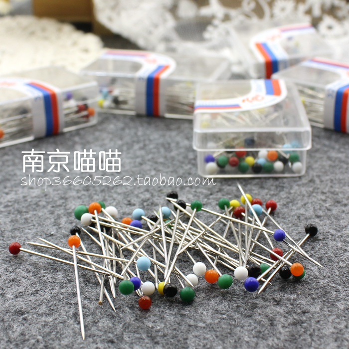 Stainless steel matte pearl needle sewing positioning fixed gauge pearl needle hand DIY tools high quality accessories accessories