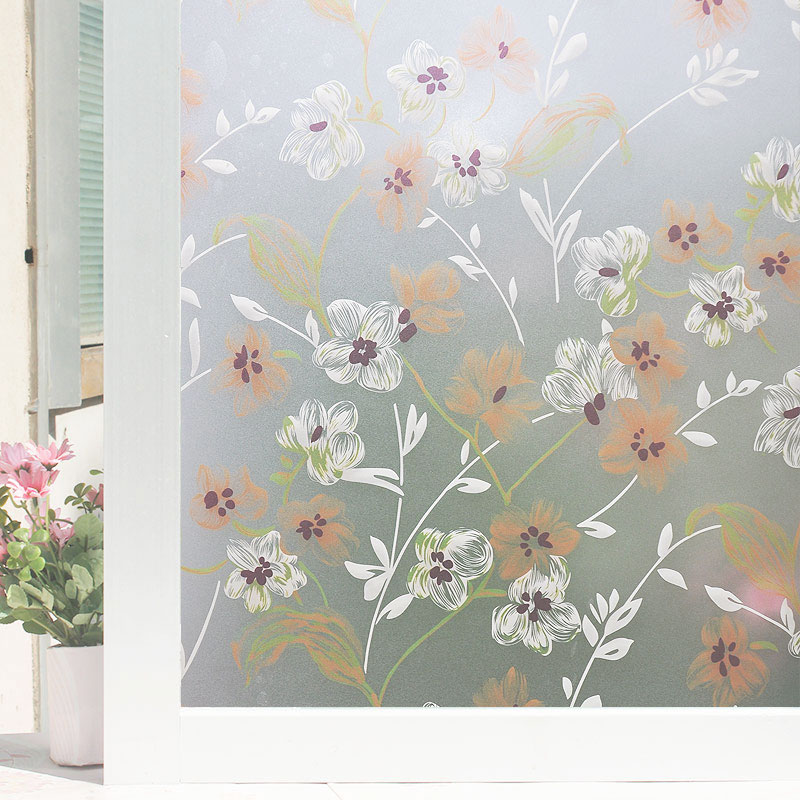 自粘磨砂窗户玻璃贴纸浴室卫生间透光不透明窗贴门装饰贴膜窗花纸