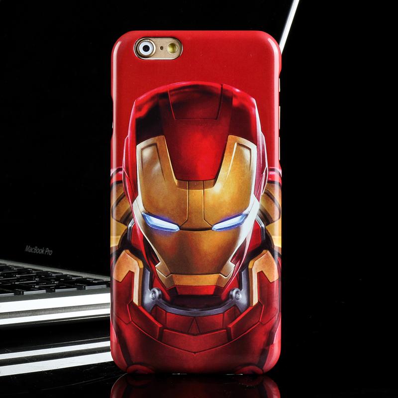 漫威正品美國隊長蘋果7plus鋼鐵俠手機殼iphone7 6s 6plus保護套