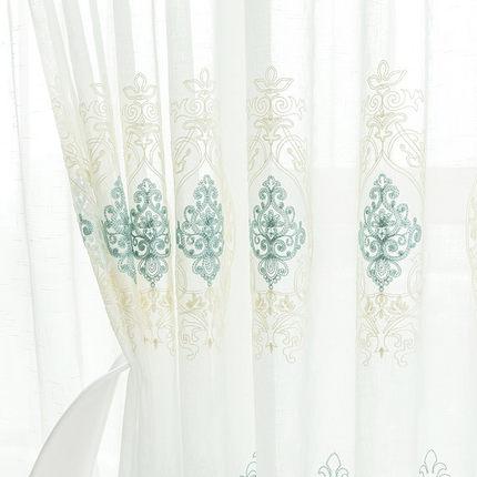 定制欧式阳台客厅卧室美式窗帘纱