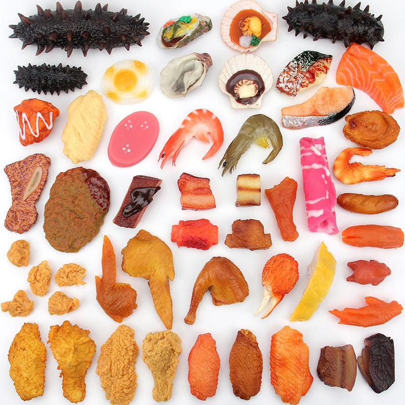 仿真红烧肉块鸡腿鸡翅食品食物模型儿童玩具拍摄道具样板摆设装饰