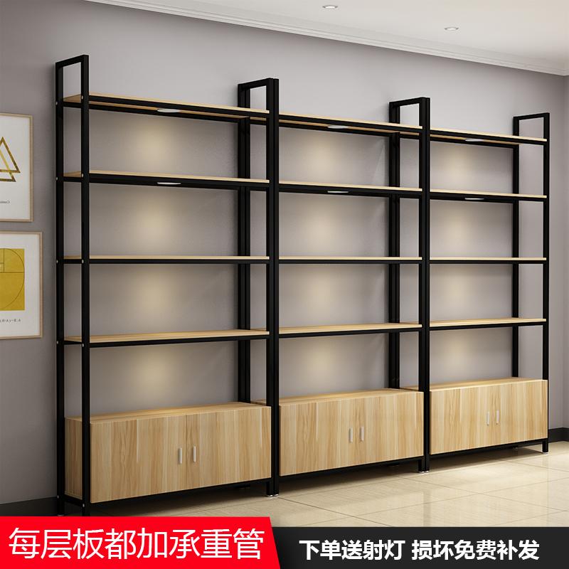 产品组合化妆品展示柜子木质置物架