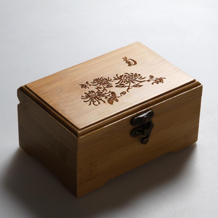首饰盒 带锁扣 收藏收纳储物针线盒子 创意礼品 公主欧式韩国 Изображение 1