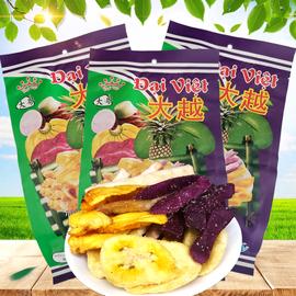 3袋越南特产进口零食大越综合蔬果干芭蕉芋头甘薯菠萝蜜干250g图片