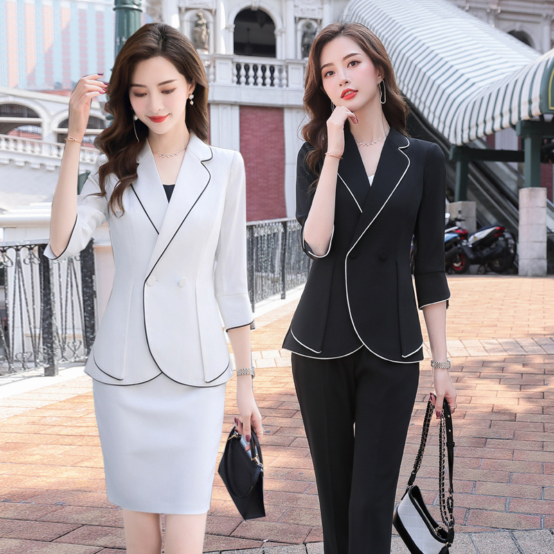 Spring and summer 2020 new womens professional suit medium sleeve suit dress fashion temperament interview suit suit suit