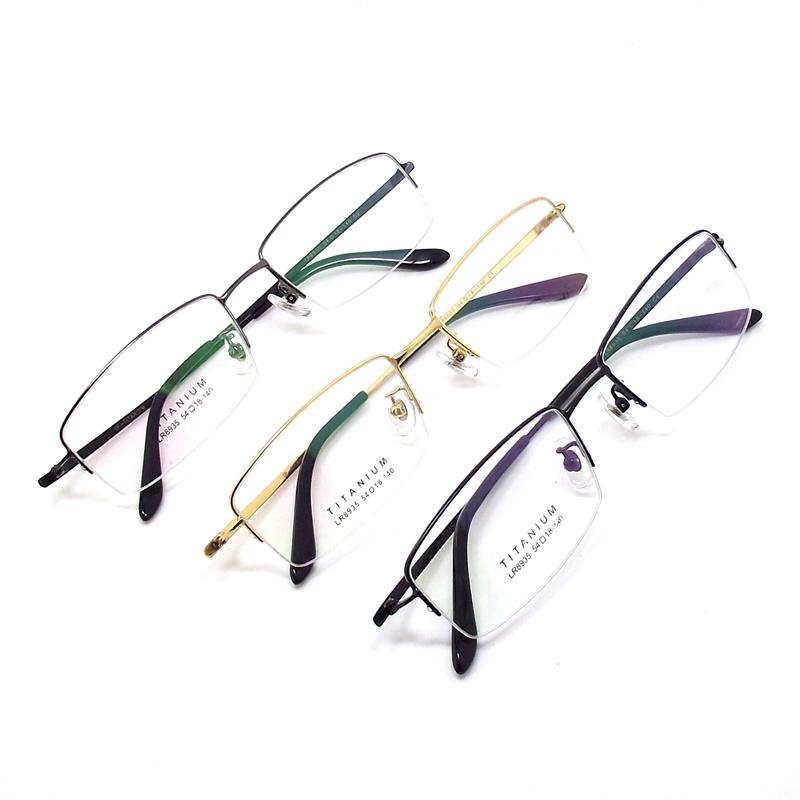 新品纯钛眼镜架男超轻半框钛合金镜框近视光学配镜架商务大脸男款