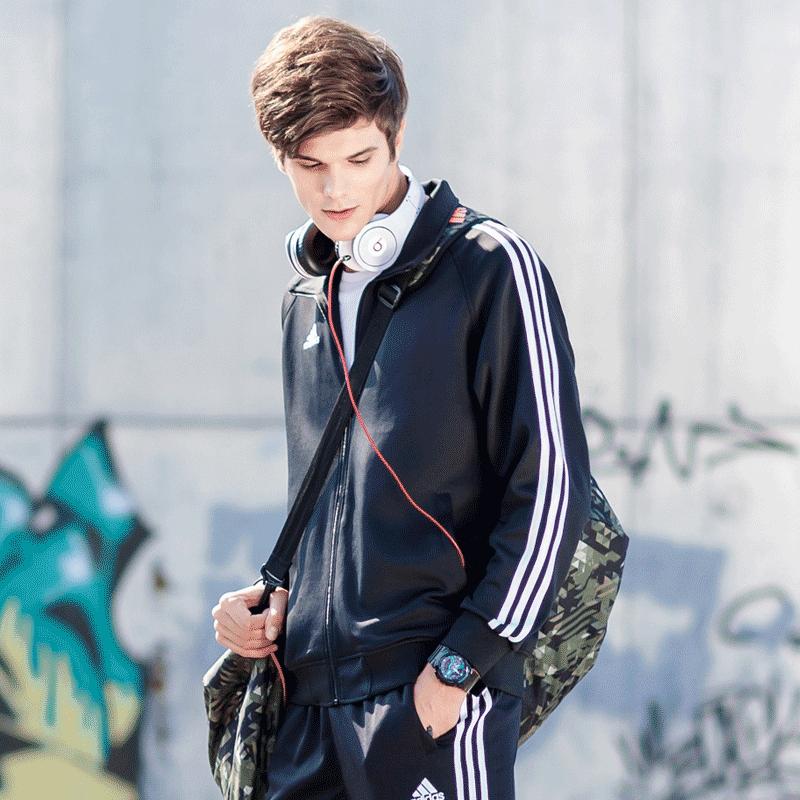 正品阿迪达斯外套男 新款秋季运动服 潮流休闲夹克 防风衣