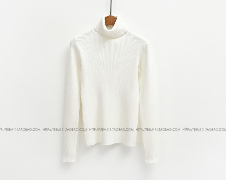 Кореи тонкая джокер поток высокого шею свитер водолазку женщин кролика меха с длинным рукавом вязать топ