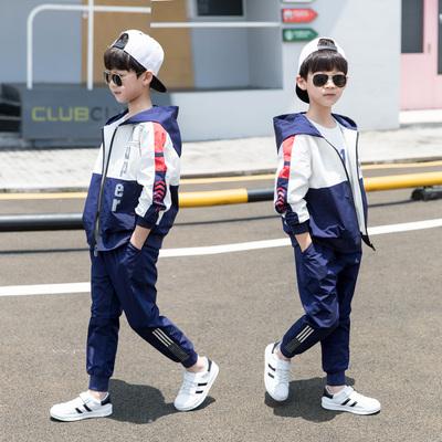 儿童装男童春装套装2020新款中大童帅气男孩春秋款运动洋气韩版潮