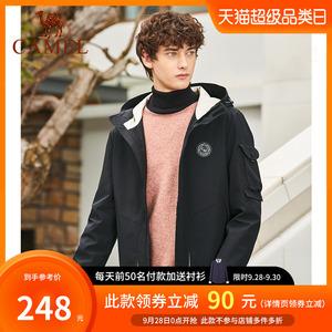 骆驼男装2020秋季款机能夹克工装外套男士韩版休闲衣服冲锋衣潮流