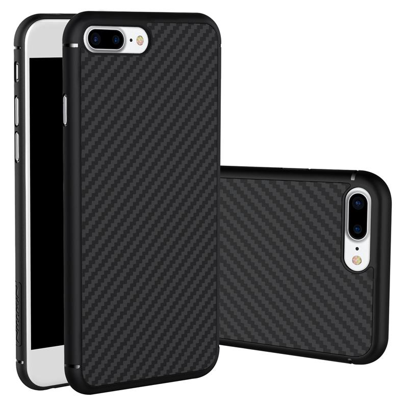 耐爾金 蘋果7plus保護套iPhone7 plus碳纖維手機殼車載磁吸套七P