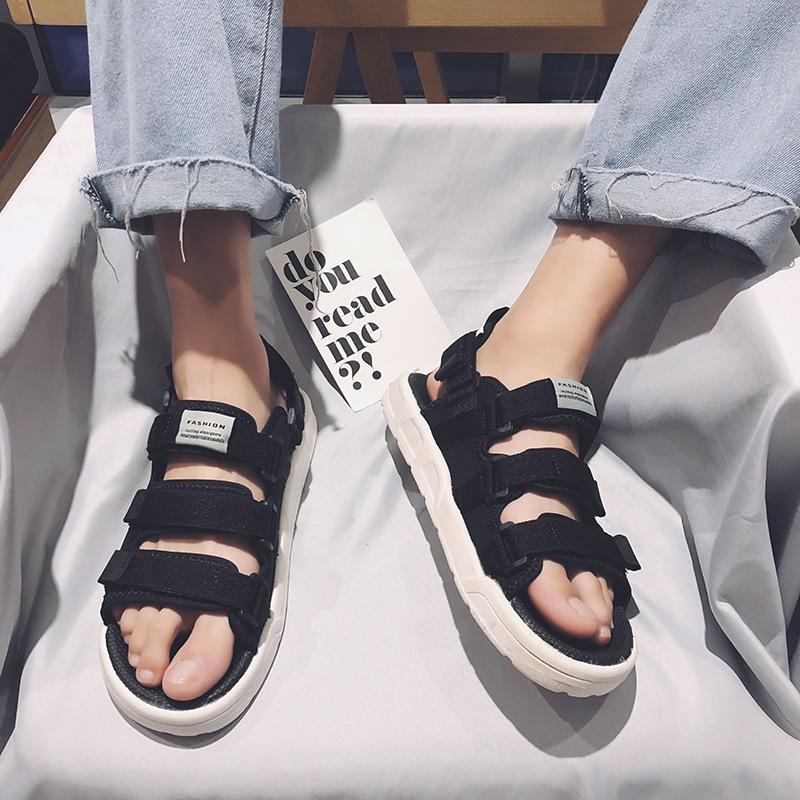 夏季越南凉鞋男士2018新款原宿风韩版潮流个性情侣学生运动沙滩鞋