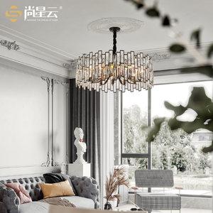 美式轻奢后现代大气家用圆形客厅灯