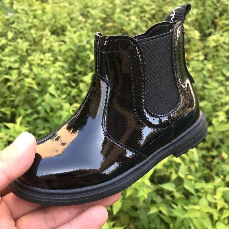 正品斯乃纳童鞋2021秋冬新款SP1932440B女童单皮靴儿童百搭马丁靴